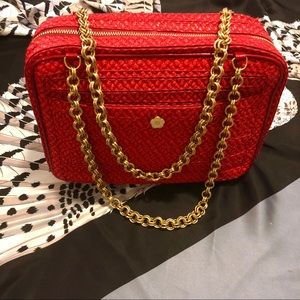 Handbags - Eric Javits Squishee Red Woven Purse
